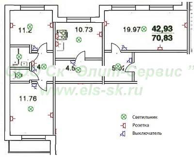 Электромонтажные работы в 3-х комнатных квартирах 137 серии проводятся качественно, в кратчайшие сроки.