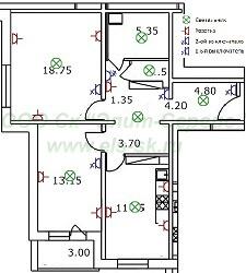 Безопасность электропроводки должна быть на должном уровне.  2-х комнатная квартира - ответственность значительно...