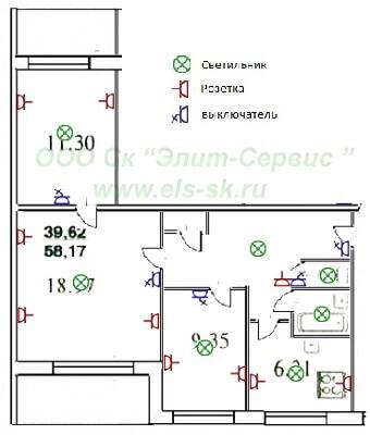 3-х комнатной квартиры 504